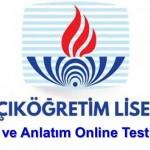 Açık Lise Dil ve Anlatım 4 Online Test 6