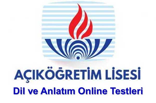 Açık Lise Seçmeli Dil ve Anlatım 6 Online Test 1