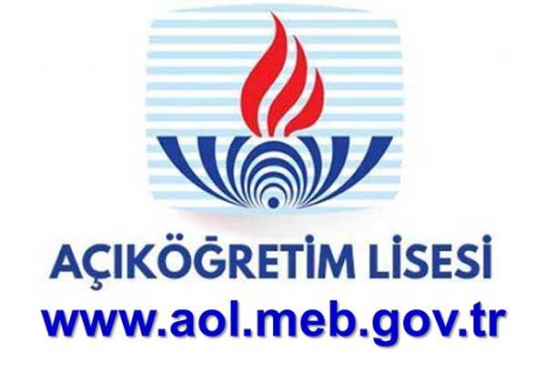 Açık Lise www.aol.meb.gov.tr öğrenci girişi ve işlemleri