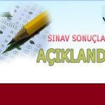7-8 Ocak 2017 yapılan Açık Lise Sınav sonuçları açıklandı