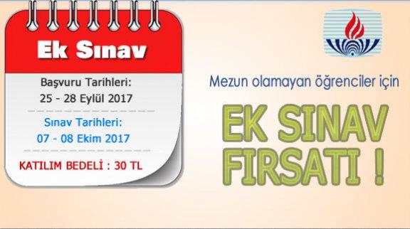 Ek sınav başvuruları başladı, son gün 28 Eylül!