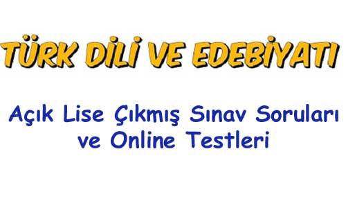 Açık Lise Türk Dili ve Edebiyatı 2 Test 5