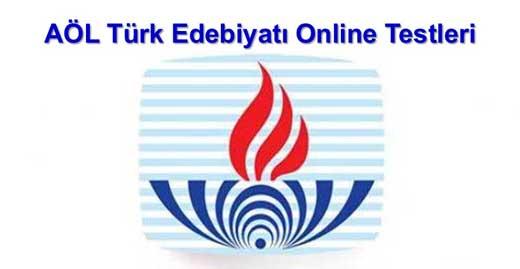 AÖL Seçmeli Türk Edebiyatı 4 Online Test 2