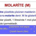 Molarite nedir, Molarite nasıl hesaplanır, Molarite formülü nedir?