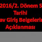 Açık Lise 2016/2. Dönem Sınav Tarihi Yaklaşıyor!
