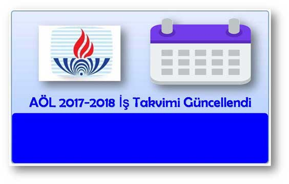 Açık Lise 2017-2018 İş Takvimi Güncellendi!