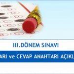07 – 08 Temmuz 2018 Açık Lise 2017-3. dönem sınav soruları yayınlandı