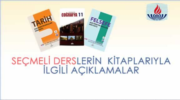 Seçmeli dersler için kullanılacak kitapların listesi