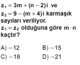 Açık Lise Matematik 1 Online Testleri Test 2