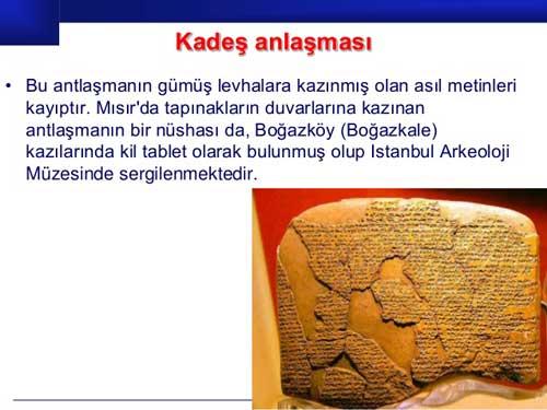 Kadeş Antlaşması nedir, hangi tarihte ve kimler arasında imzalanmıştır?