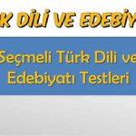 Seçmeli Türk Dili ve Edebiyatı 2 Testi 2