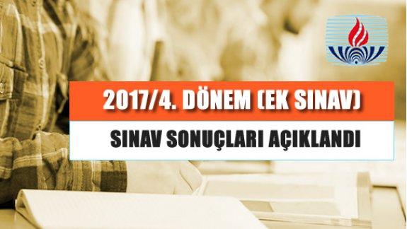 6 Ekim 2018 tarihinde yapılan Ek sınav sonuçları açıklandı