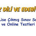 Açık Lise Türk Dili ve Edebiyatı Testi Çöz 2019 2020