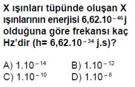 Açık Lise Seçmeli Fizik 4 (Fizik 8) Test 1