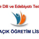 Açık Lise Türk Dili ve Edebiyatı 5 ve 6 Dersleri 8-9 Aralık Çıkmış Sınav Soruları Online Testleri Yayınlandı