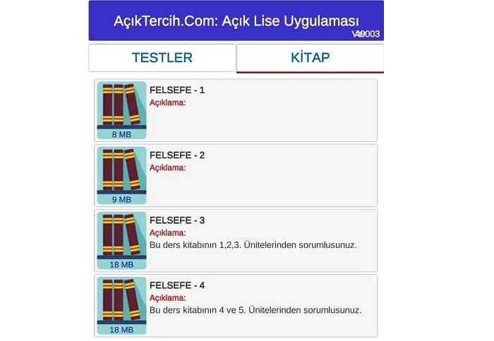 AçıkTercih.Com AÖL Test Çöz Uygulaması Son Sürümü