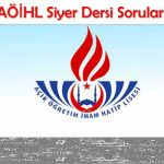 AÖİHL Siyer 1 Test 1