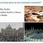 Dinlere göre kutsal yerler ve hac merkezleri nerelerdir?