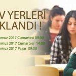 Açık Lise 1-2 Temmuz 2017 3. dönem sınav giriş yerleri açıklandı