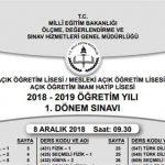 7-8 Aralık 2019 1. dönem sınav soruları yayınlandı