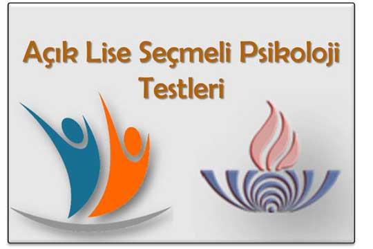 Açık Lise Seçmeli Psikoloji 1 Testi (Mart 2018)