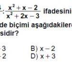 Açık Lise Matematik 4 Online Test: 2