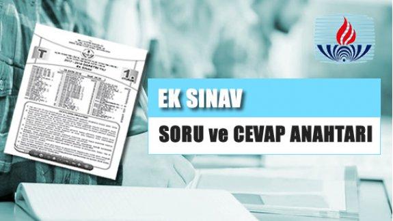 06 Ekim 2018tarihinde yapılan Ek Sınav soru kitapçıkları yayınlandı