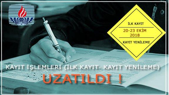 Açık Öğretim Okullarında ilk kayıt ve kayıt yenileme işlemleri bir daha uzatıldı: Son gün 23 Ekim 2018