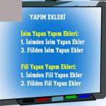 Türkçede yapı bilgisi ve yapım ekleri